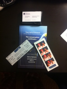 New Shiny Business Cards, Gloria Steinem, Pics of Me and Alex and the Reception