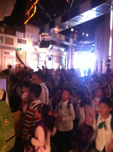 Gaggles of school children at the Museum - I felt like a giant!