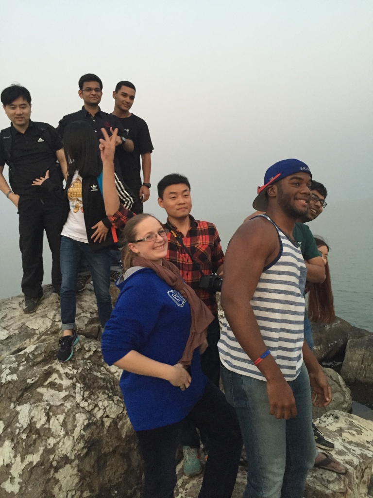 Candid shot of some GMBAs on the rock formation.