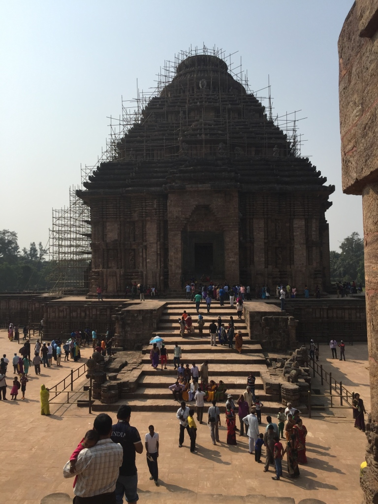 No one can actually go into the temple, because it's being repaired. Long ago there was a large magnet at the center of the temple that kept it all together - amazing right?