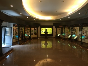 One exhibit detailing the history of Jamshedji Tata and the start of the TATA Steel plant and other companies.