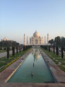 Early Morning shot of the amazing Taj Mahal.