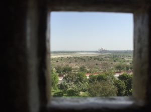 I wasn't in the king's jail cell, but I'm figuring this is what it was sort of like. The Taj in the distance.