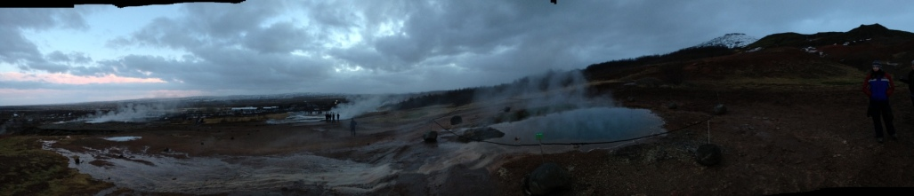 Panorama of Geysir Park
