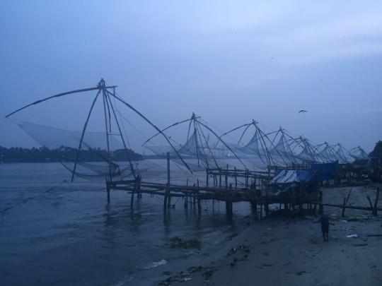Chinese Fishing Nets at dawn.