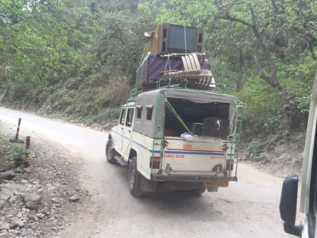 Spotted on the way to Rishikesh - moving Indian style.