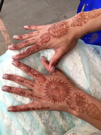Front of my henna