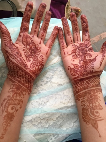 Palm side of henna
