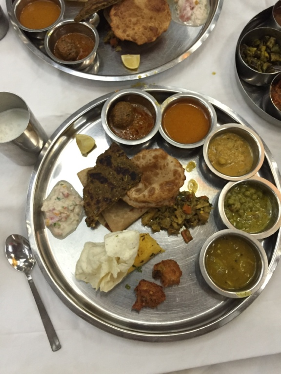 Delicious Maharashtrian traditional cuisine.