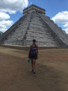 Me in front of El Castillo