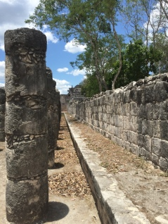 Part of warrior complex at Chichen Itza